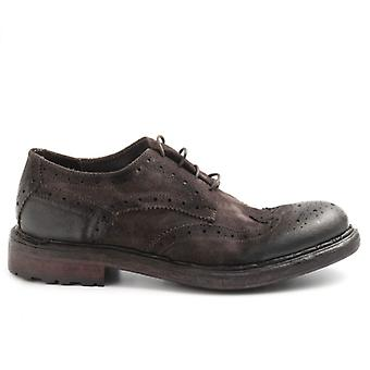 Barrow Men's Shoeăs Brown In Greased Suede