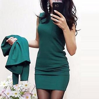 Women's Sexy Sheath O-neck Mini Dress Casual Coat