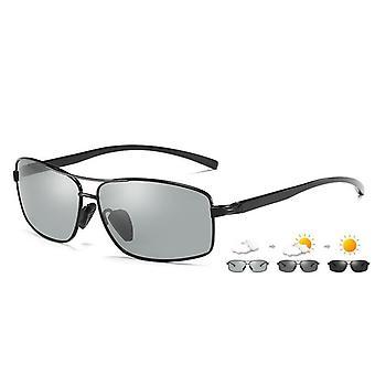 Men/women Polarized Chameleon Glasses Driving Goggles Anti-glare Sunglasses