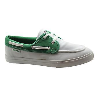 كونفيرس ستار البحر OX الرجال قارب الأحذية المدربين الأخضر الأبيض الدانتيل حتى 129742C D57