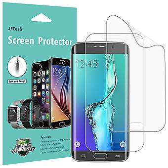 Jetech screen protector for samsung galaxy s6 edge plus, tpe ultra hd film, full screen coverage, 2-