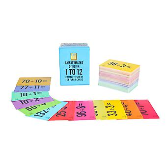 Smartymaths divisie flash cards set van 144