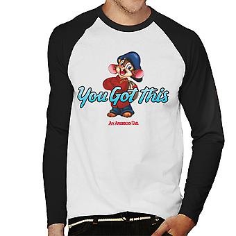 An American Tail Fievel Mousekewitz You Got This Men's Baseball Long Sleeved T-Shirt