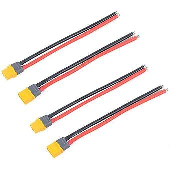 2 pares xt60 conector macho hembra con conector de carcasa de funda con cable de silicona 150mm 12awg para batería de dron lipo fpv