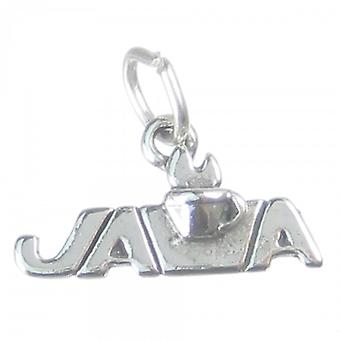 Java Coffee Sterling Silver Charm .925 X 1 Drinking Cup Drinks Charms - 3701