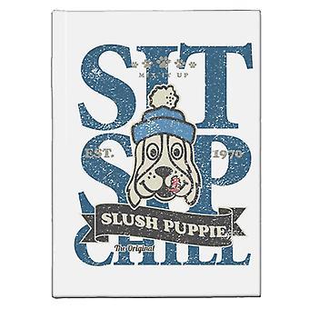 Slush Puppie Distressed Sit Sip Chill Hardback Journal