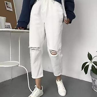 Jeans Femei, Primăvară, Vară, Trendy Stil Simplu All-match, Solid Hole, Soft