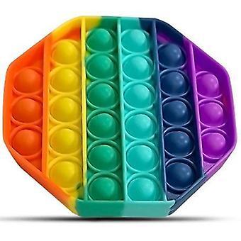 Pop It Fidget Toy Original - Octagon Rainbow - CE Godkänd