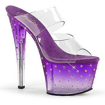 Pleaser Scarpe donna STARDUST-702T Clr/Purple-Clr