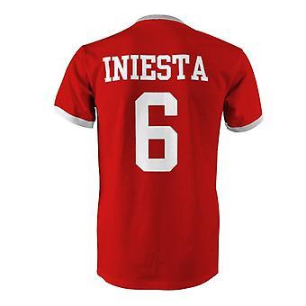 Andres Iniesta 6 Spain Country Ringer T-Shirt