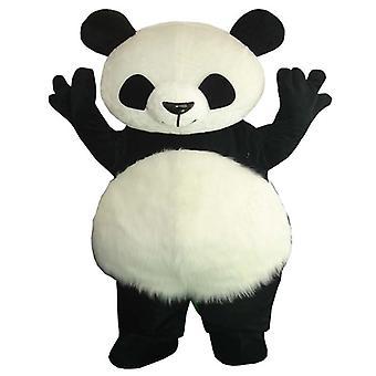 Clássico Panda Mascote Fantasia Gigante Diversão Elegante