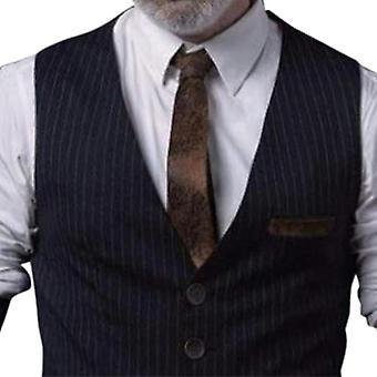 Colete listrado de quatro botões masculinos