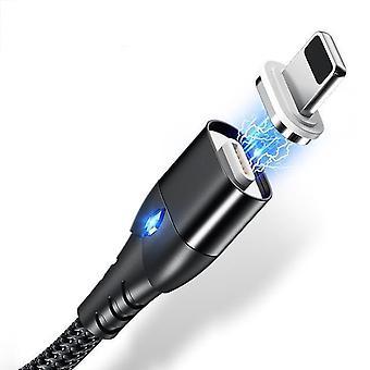 2M 3a micro usb / type c magnetische telefoonkabel met snel opladen 3.0 technologie