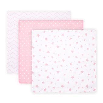 Manta Lorelli Wrap, Manta bebé Trío, Tamaño 80 x 80 cm, Conjunto de 3, 100% algodón