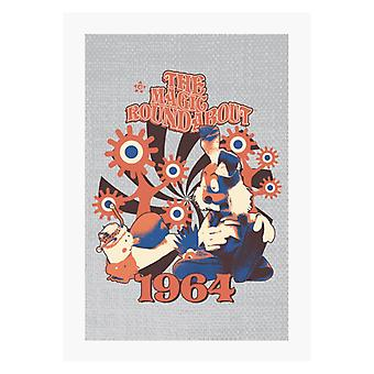 The Magic Roundabout Retro Brian & Dylan A4 Print
