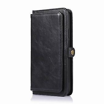 Multifunktionale Leder Geldbörse Fall für iPhone 11 Pro 5.8 - Schwarz