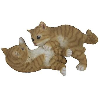kitten 26.2 x 14.8 cm polyresin brown/white