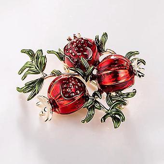 Emaille Granatapfel Broschen, Legierung Früchte Casual Hochzeiten Brosche Pins