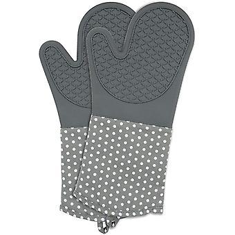 HanFei Topfhandschuhe mit Handflächen aus Silikon, 1 Paar, praktischer Küchenhelfer, auch als