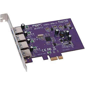 Wokex USB3-4PM-E Allegro PCI-e Karte (4-Port, USB 3.0)