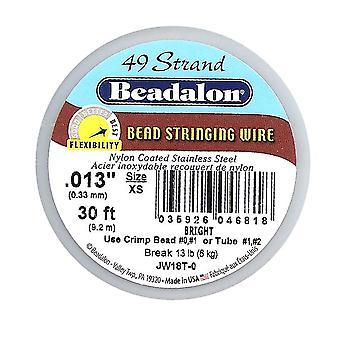 Beadalon Wire Standard Ljus 49 Strand .013 Tum / 30Ft