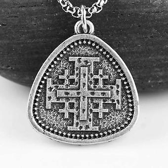 Vintage jerusalem kors medeltida halsband