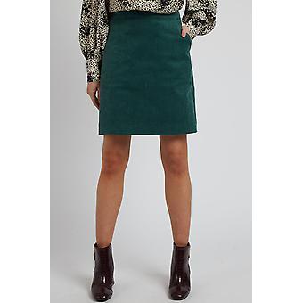 Louche Womens Krisa Cord Mini Skirt Teal