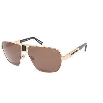 ZILLI Solglasögon Titanacetat Läder Polariserat Frankrike Handgjord ZI 65035 C01