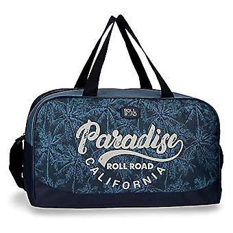 Roll Road Palm Travel Bag Azzurro 45x26x20 cms Polyester 23.4L
