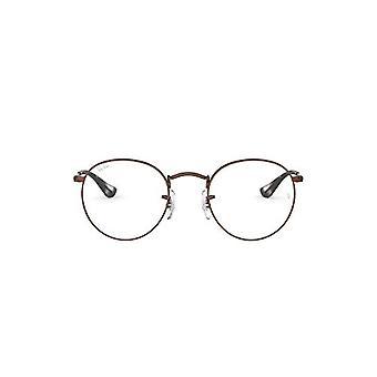 Ray-Ban Runde Metal læsebriller, Brown, 47 Unisex-Adult