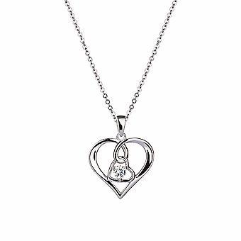 Avec Amour - Pendentif Icônes Coeur et Âme - Prolongateur 40cm +3cm - Argent - Cadeaux bijoux pour femmes de Lu Bella