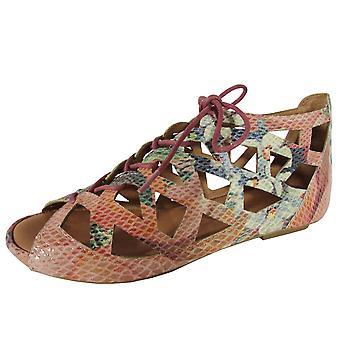Gentle Souls Naisten Brielle kohokuvioitu avoin toe sandaali kengät