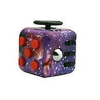 Cer înstelat cub de jucărie fidget cu 6 laturi pentru a reduce stresul și anxietatea cub x1078