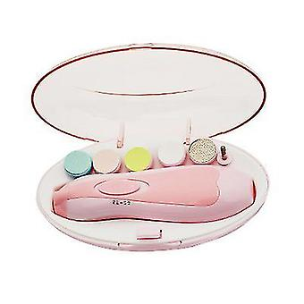 Pink 6-in-1 multifunctional baby electric nail trimmer az20483