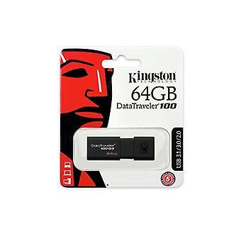 Kingston DataTraveler 100 G3 64 GB USB 3.0 Svart USB-flashminne