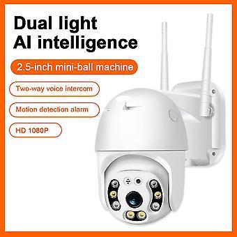 Wi-Fi камера 1080p h.265 us / eu беспроводная мини-веб-камера аудио и двойной свет движения сигнализация облачное хранилище ptz камера безопасности