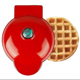 Mini Waffle Maker Household Children's Baking Machine(Red1)