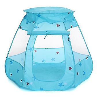 barn baby telt ocean ball pit basseng spille hus barnespill leketøy (blå)