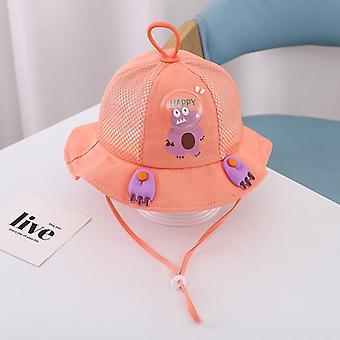 الأطفال الذين تتراوح أعمارهم بين 1-3 الصيف تنفس قبعة الفتيان والفتيات دلو قبعة