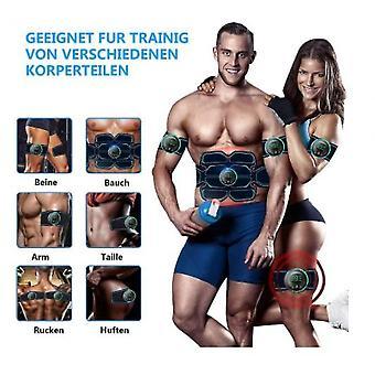Treinador de músculo do cinto de tonificação abdominal, treinador de fitness portátil para abdômen, carregamento USB
