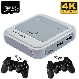 Super Console X spillekonsol indbygget i 41 000+ spil 128g