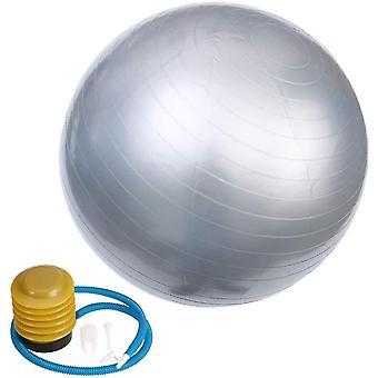 الفضة 55cm ممارسة كرة اليوغا المضادة للانفجار زلة أداة اللياقة البدنية الكرة المقاومة لتوازن بيلاتس العمل بها lc377