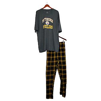 NFL Women's (XXL) Men's Pajama Set Flannel Pants & T-Shirt Gray A370734