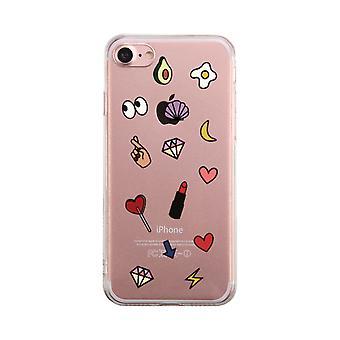 Cute Emoji Pattern Transparent Phone Case Cute Clear Phonecase