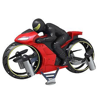 RC Motorrad Amphibious Fernbedienung Vierachse UAV ein Schlüssel Rolle Flugzeug Modell Motorräder (rot)