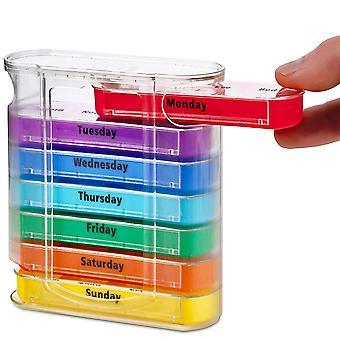 7 Tage die Woche Pillenbox mit 28 Fächern Pillenaufbewahrungsbox