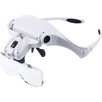 Head Magnifier Magnifying Glasses With Led Lighting For Precision Sewing Repair Diy 1.0x To 3.5x