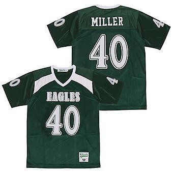Мужская Миллер #40 Баскетбол Джерси Сшитые Спорт Короткие рукава футболка Размер S-xxxl