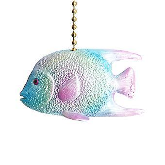 Tropical Ocean Reef Blue Angel Fish Ceiling Fan Pull