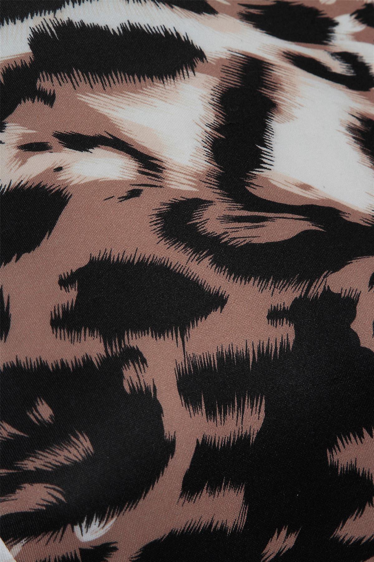 Love2Dress رأس الطباعة الحيوانية مع هيم Peplum